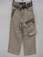 Летние брюки для мальчиков из льна размеры: 120,130,135 роста