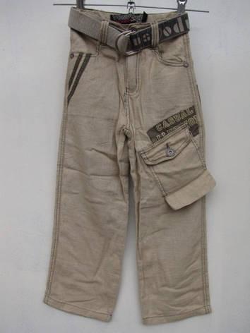 Летние брюки для мальчиков из льна 130,135,140 роста, фото 2