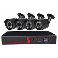 4-Канальная система камеры безопасности с 4CH 1080N AHD видеорегистратором 4 x 2.0MP погодоустойчивая камера с ночным видением Конвертер путешествий