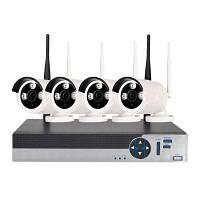 4-канальная беспроводная система безопасности с камерами 720P 1 х WiFi видеорегистратор 4 х 1.0MP WiFi IP камера с ночным видением Конвертер