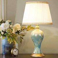 Е27 классический керамический китайский стиль настольная лампа 220V спальные гарнитуры разноцветный