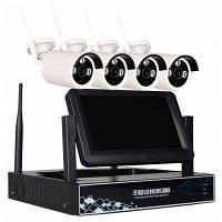 Беспроводной 4-канальный 720P NVR комплект Видеорегистратор с WiFi и 7 дюймовым LCD экраном 4 х 1.0MP WiFi IP камера с ночным видением США