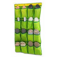 Дверь висячие Сумка для хранения Организатор с 16 карманами Зелёный