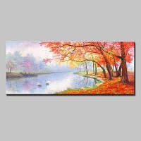 Mintura Unframed Prints Lakeside Landscape Wall Art 1PC Цветной