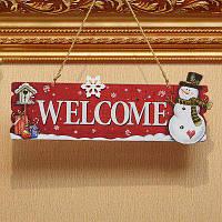 Рождественское украшение декор на дверь добро пожаловать Красный