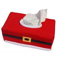 Творческая коробка для салфеток для пождественского украшения Красный