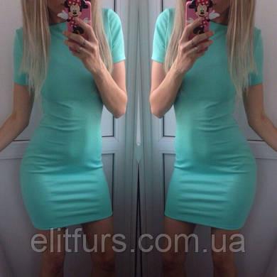 Платье мини с коротким рукавчиком повседневное + (10 цветов)