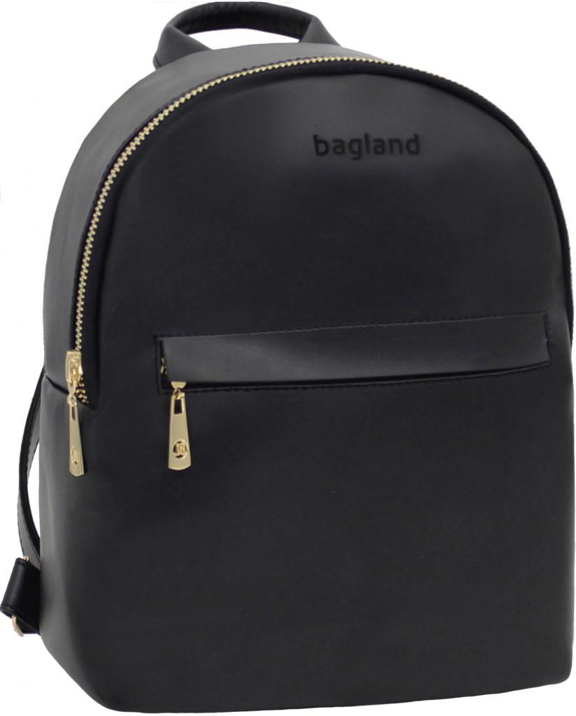 Рюкзак женский Bagland из эко кожзама. Черный