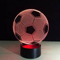 Yeduo Новый Творческий Форма футбола 3D Иллюзия Ночной свет 7COLORS Сменные для украшения спальни Цветной