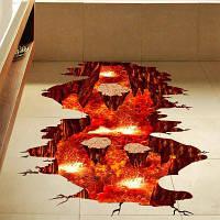 Творческий 3D вулканической магмы домашнего декора стикер стены Цветной