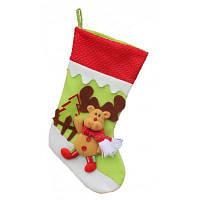 Рождественский декоративный мешок чулок для подарков дизайн олень Цветной