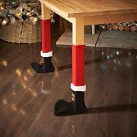 Смазливый чехол для ножки стула с дизайном рождественской обуви 4шт Цветной