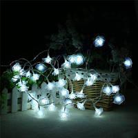 20-LED Роза Рождественская Елка украшения строка огни цветные лампы Белый