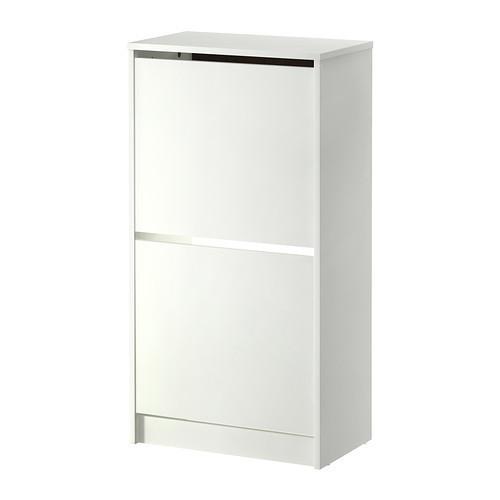 БИССА Комод для обуви, 2 ящика, белый, 50242737, IKEA, ИКЕА, BISSA
