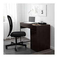 МИККЕ Рабочий стол с тумбой, черно-коричневый, 10244743, ІКЕА, ИКЕА, MICKE