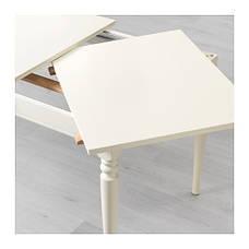 ИНГАТОРП Раздвижной стол, белый, 70221423,IKEA, ИКЕА, INGATORP, фото 3