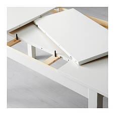 БЬЮРСТА Раздвижной стол, белый, 40204745, IKEA, ИКЕА, BJURSTA, фото 2