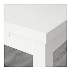 БЬЮРСТА Раздвижной стол, белый, 40204745, IKEA, ИКЕА, BJURSTA, фото 3
