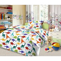 Ткань для детского постельного белья, поплин Дино-пати