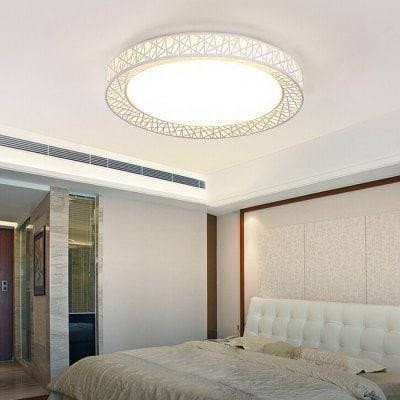 Современный круглый светодиодный потолочный светильник творческая лампа 220V светодиодное освещение кабинета - Белый, фото 2