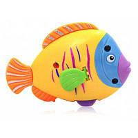 Заводная игрушка для ванной в форме рыбы Цветной
