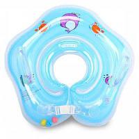 Детский плавательный надувной круг для шеи с регулировкой Цветной