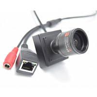 960P Мини IP-камера поддержать ONVIF 2.8-12мм ручной варифокальный зум-объектив P2P подключи и играй система безопасности Чёрный