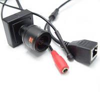 720P Аудио мини IP-камера поддержать ONVIF2.0 2.8-12мм ручной варифокальный зум-объектив P2P подключи и играй с кронштейном безопасности Чёрный