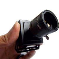 720P ONVIF2.0 1.0MP 25FPS Встроенная мини IP-камера наблюдения безопасности 1/4 дюйма H62 9-22мм ручной варифокальный зум-объектив Чёрный