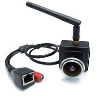 720P Wifi Широкоугольный рыбий глаз объектив 1.78мм 1.0 MP беспроводная камера встроенный мини сетевой монитор дверного глазка Чёрный