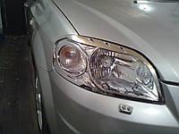 Хромированные накладки на фары Chevrolet Aveo T250 2005-2011 гг.