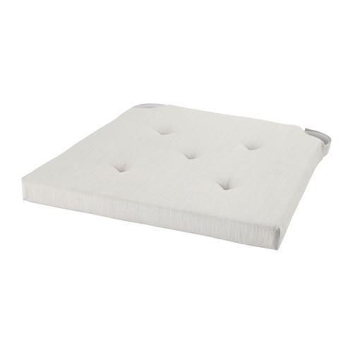 ЮСТИНА Подушка на стул, белый, 90175000, IKEA, ИКЕА, JUSTINA