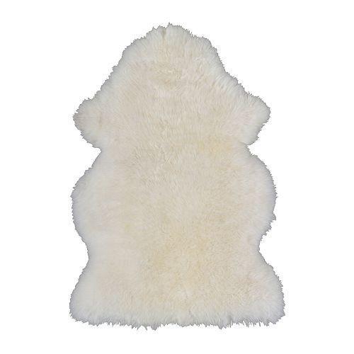 ЛУДДЕ Ковер Овечья шкура, белый, 60264267, IKEA, ИКЕА, LUDDE