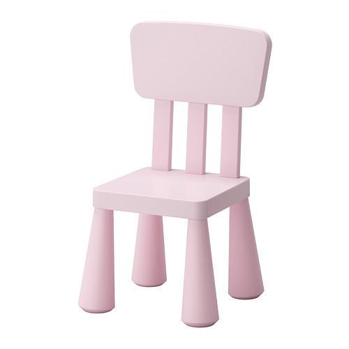 МАММУТ Детский стул, светло-розовый, 50267558, IKEA, ИКЕА, MAMMUT