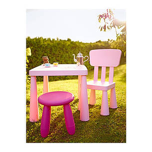 МАММУТ Детский стул, светло-розовый, 50267558, IKEA, ИКЕА, MAMMUT, фото 2