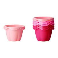 СОККЕРТАКА Формы для кексов, набор 6 шт, розовый, 40256616, IKEA, ИКЕА, SOCKERKAKA