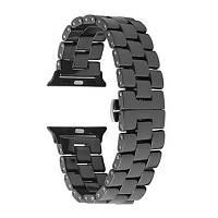 Topun Керамический браслет для часов запасной ремень для 38мм iWatch серии 3 2 1+инструмент Чёрный