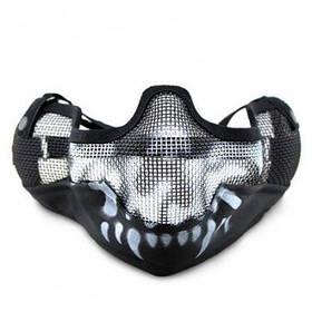CTSmart MA - 10 Стальная сетка тактическая маска для лица - Чёрный