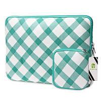 EPGATE 15-дюймовый портативный модный защитный чехол для ноутбука Белый и зеленый