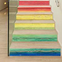 Радужный деревянный стиль 18 x 100 см x 6 шт