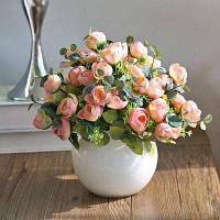 XM1 10Heads Champagne Tea Rose Домашнее украшение Искусственные цветы Шампанский