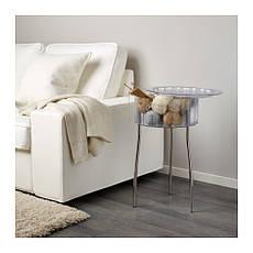 ХАТТЭН Столик придиванный, прозрачный, ИКЕА, IKEA, 40116188, HATTEN, фото 3