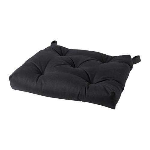 МАЛИНДА Подушка на стул, черный, 00333122, ИКЕА, IKEA, МАЛИНДА