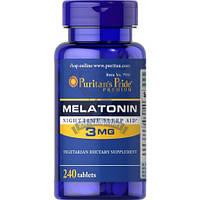 Puritan's Pride Melatonin 3 mg мелатонин 3мг для нормализации сна и циркадных ритмов