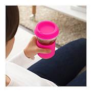 ИКЕА ПС 2017 Кружка с крышкой, розовый, 0.4 л, 90333009, ИКЕА, IKEA, IKEA PS 2017