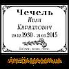 Металлокерамическая табличка на памятник