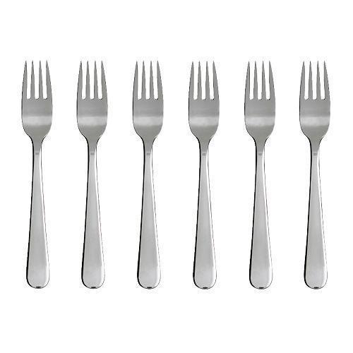ДРАГОН Вилка салатная/десертная, 6шт., нержавеющая сталь, 30090382, ИКЕА, IKEA, DRAGON