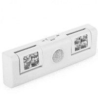 8 светодиодов тела Датчик лампы ночь свет шкафа Белый