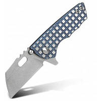 FURA S35VN карманный складной нож с замком рамки и стальным лезвием серебристый и синий