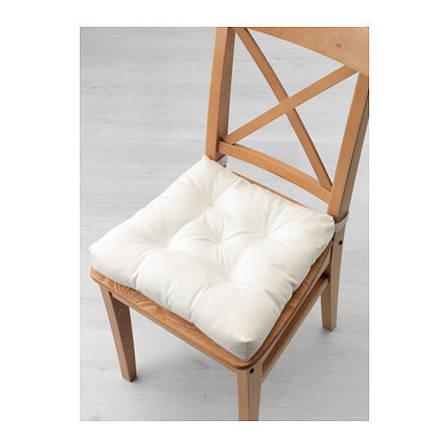 МАЛИНДА Подушка на стул, белый, 40/35x38x7 см, 70308096, ИКЕА, IKEA, MALINDA, фото 2